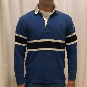 Ralph Lauren blue rugby shirt ((boys 8-10)